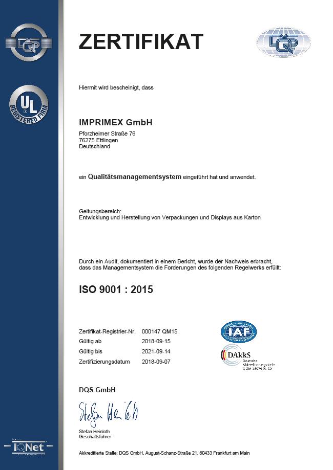 QS Zertifikat